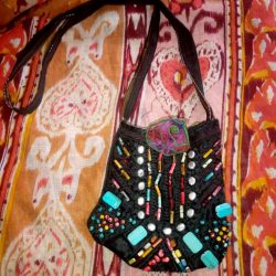Black Beaded Bag