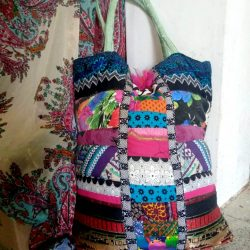 patchwork shopping bag