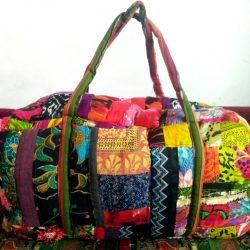 patchwork duffel bag
