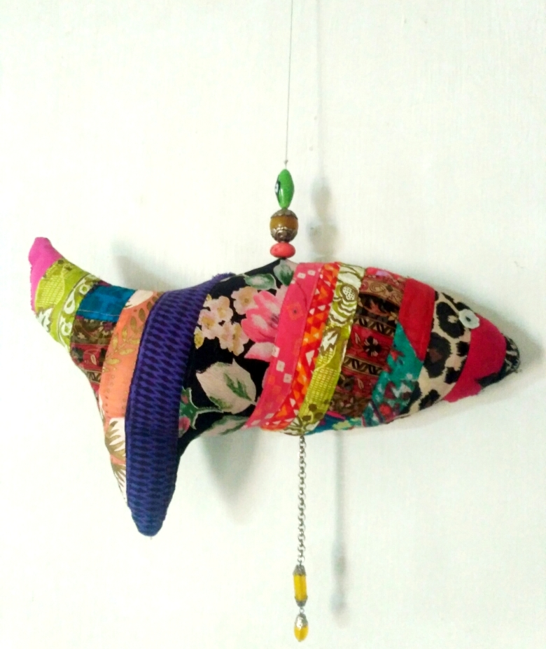 Patchwork Fish Mobile